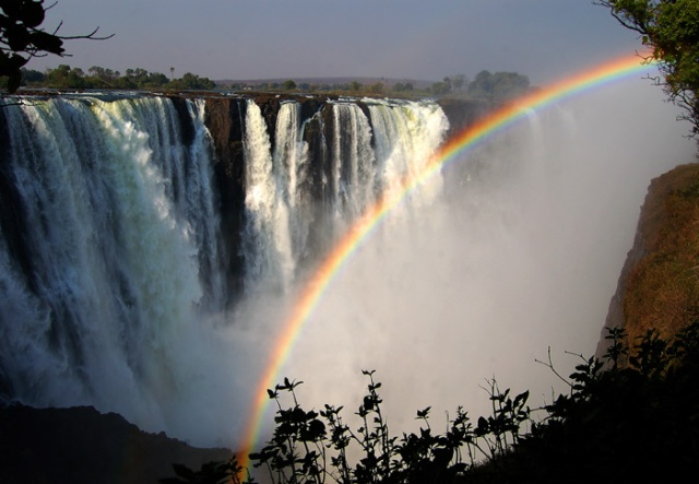 Victoria Falls and Rainbow, Zimbabwe