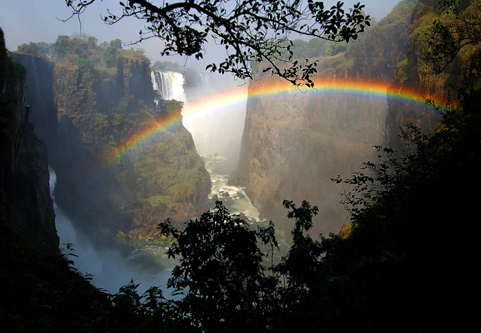 Cataract View and Rainbow, Victoria Falls, Zimbabwe