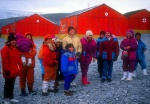 Argentinian children prepare to winter-over, La Esperanza Station, Antarctica