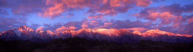 Alabama Hills Sunrise Panorama, California