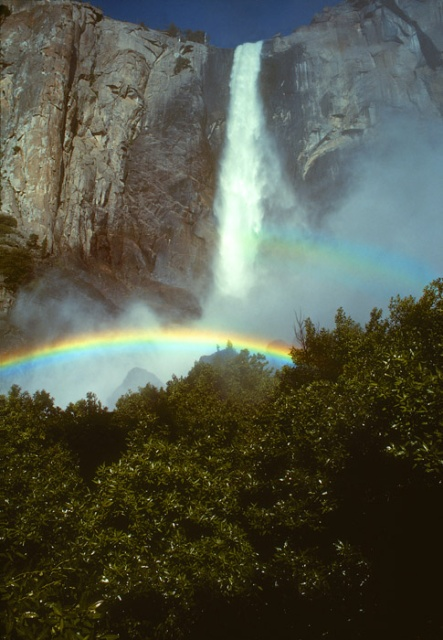 Bridal Veil Falls and Rainbow, Yosemite, California