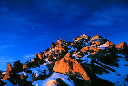 Winter Sunrise Buttermilk Hills, Eastern Sierra, CA
