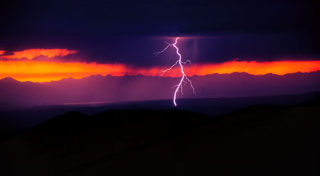 Lightening Strike at Sunset