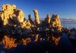 Mono Lake tufa reflections
