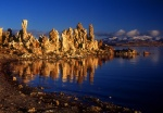 Mono Lake tufa towers reflection winter