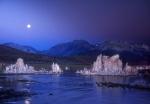 Moonset over Mono Lake, California