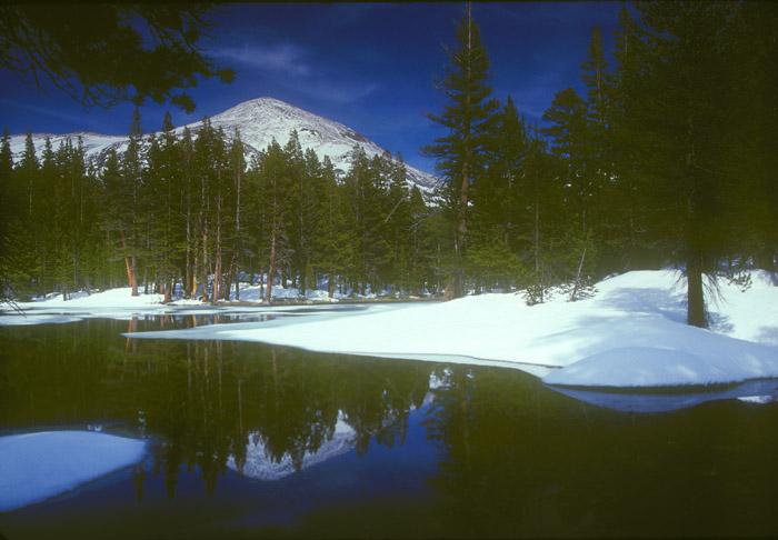 Mt Dana in snow, Yosemite National Park, California