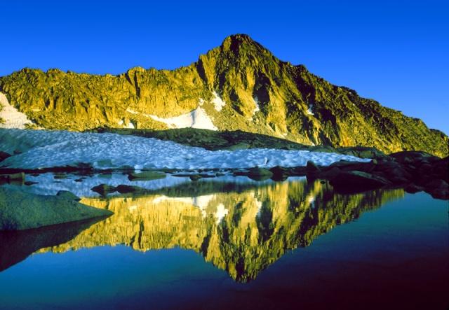 Palisade Basin Lake Kings Canyon National Park Sierra Nevada Mtns., CA