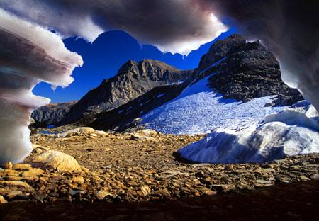 Snow Cave at Piute Pass Sierra Nevada Mountains California