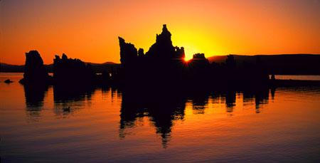 Sunrise Sunburst Mono Lake, CA