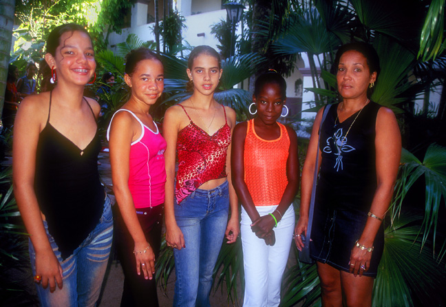 School Girls and Teacher, Camaguay, Cuba