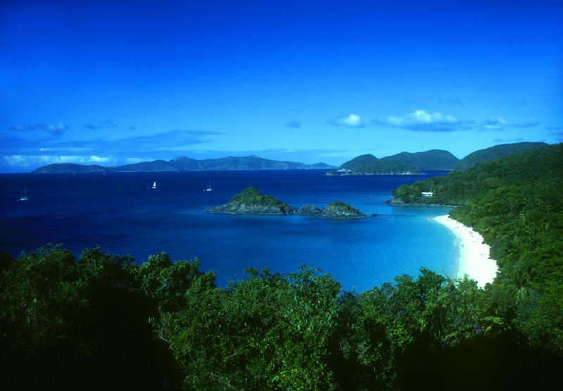 Trunk Bay Lagoon St. John Island US Virgin Islands