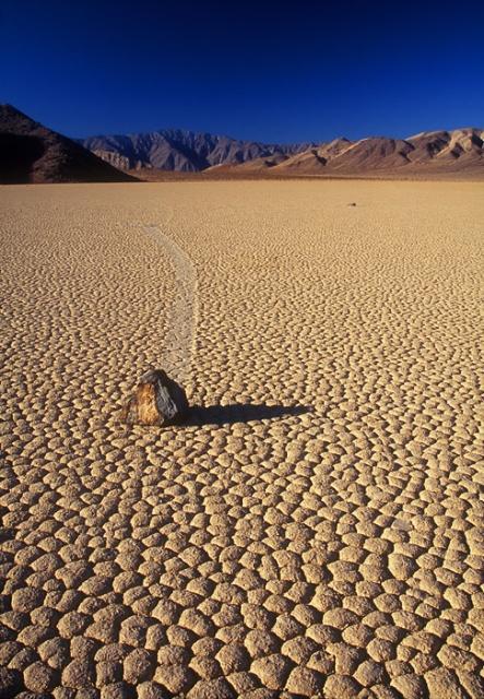 Death Valley Racetrack rock Vertical