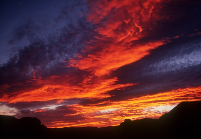 Sunset skies, Fish Creek, Anza Borrego, California