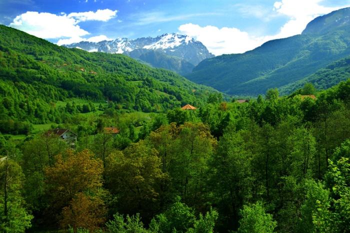 Drina River Valley in Republika Srpska, Bosnia & Herzegovina