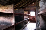 Concentration camp bunks, Auschwitz, Poland