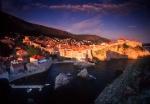 Dubrovnik in evening light, Croatia