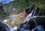 Rainbow and cascades, Plitvice Lakes National Park, Croatia