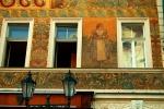 Art Nouveau building facade, Old Town, Prague, Czech Republic