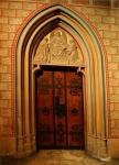 Church door, Matthias Church, Budapest, Hungary