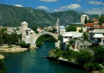 Mostar Bridge and Neretva River, Bosnia & Herzegovina