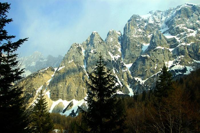 Julian Alps from Vrsic Pass, Slovenia