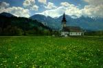 Julian Alps church, near Lake Bohinj, Slovenia