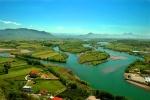 Drini River Valley from Rozafa Fortress near Shkodra, Albania