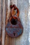 Lock on Gas Chanber Door, Auschwitz, Poland