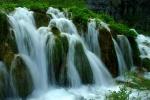 Close-up of falls, Plitvice National Park, Croatia