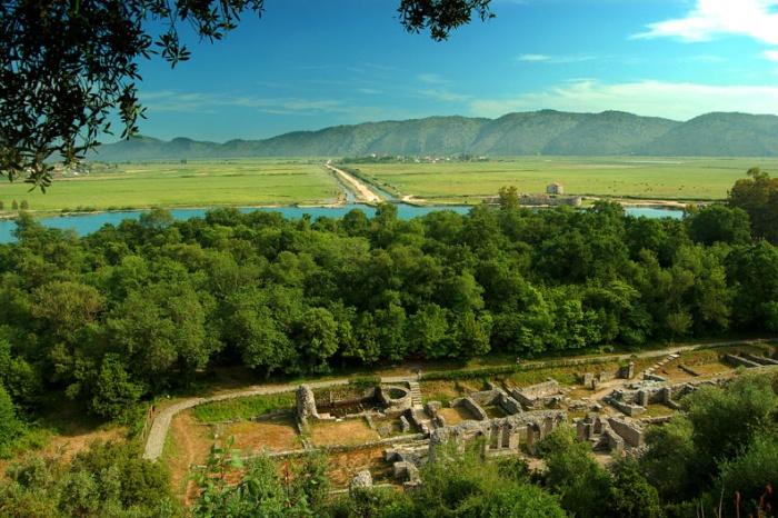 Ancient ruins of Butrint, near Saranda, Albania