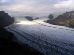 Skaftafellsjokull Glacier descending from the massive Vatnajokull Icecap - the largest in Europe. Iceland