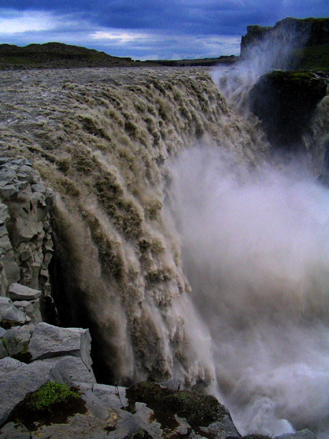 Dettifoss, 145' high - the largest volume waterfall in Europe, Iceland