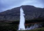 Strokkur geysir at Geysir, Iceland