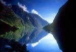 Reflection in Fjord near Gudvangen, Norway