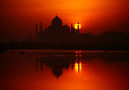 Sunrise, Taj Mahal Agra, India