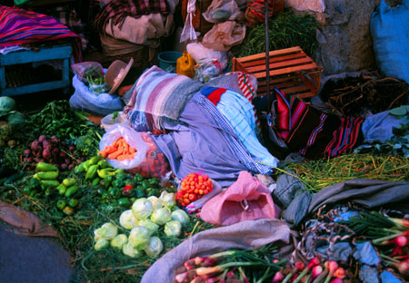 Asleep in the Market La Paz, Bolivia
