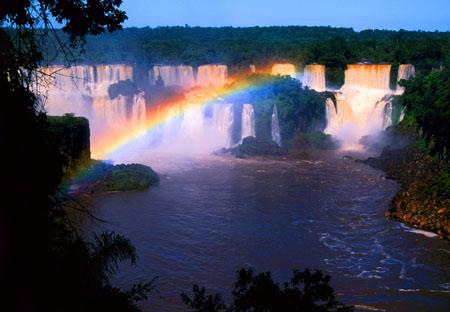 Iguazu Falls and Rainbow Brazil/Argentina