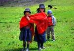 Shepherd children Chimborazo Ecuador
