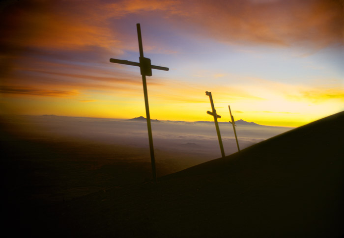 Tres Cruces at 15,000 feet on Popocatepetl volcano, Mexico