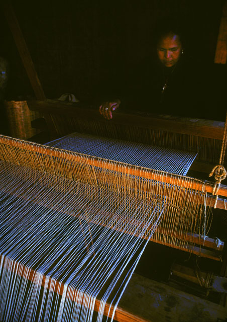 Maria Vicinte at loom, Oaxaca, Mexico