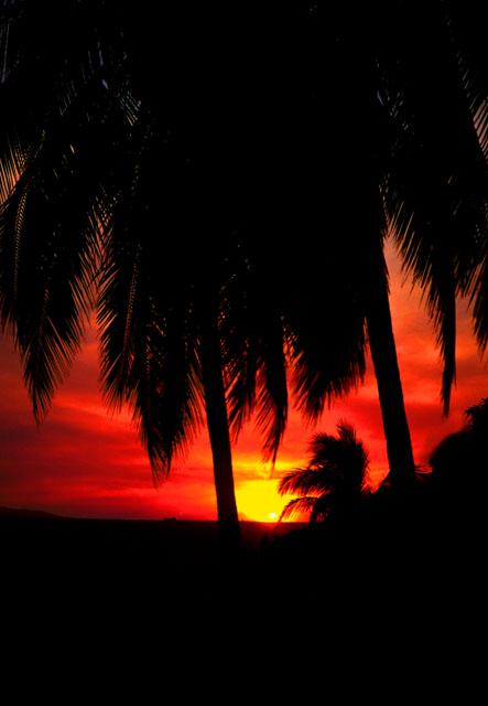 Tropical Sunset near Acapulco, Mexico