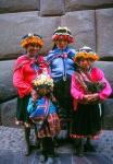 Quechua Indian girls Cuzco, Peru
