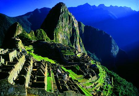 Machu Picchu at sunrise Peru