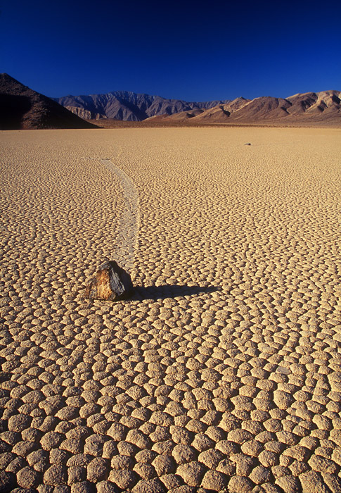 Racetrack rock, Death Valley National Park, California