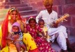 Musical family, Jodhpur, India