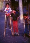 Boys on stilts, Mexico