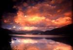 Sunset over Oppheims Lake, Norway