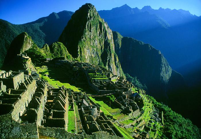 Machu Picchu at sunrise, Peru