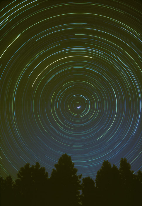 Star Circles, 6 hour exposure, Colorado